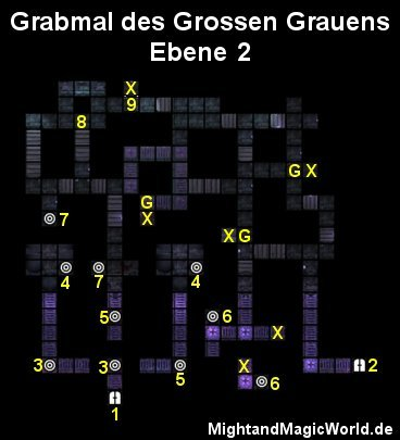 Map der Grabmal des Grossen Grauens Ebene 2
