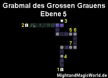 Map der Grabmal des Grossen Grauens Ebene 5
