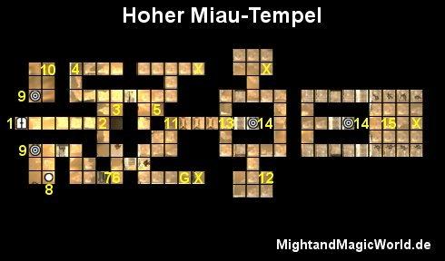 Map des Hoher Miau-Tempels