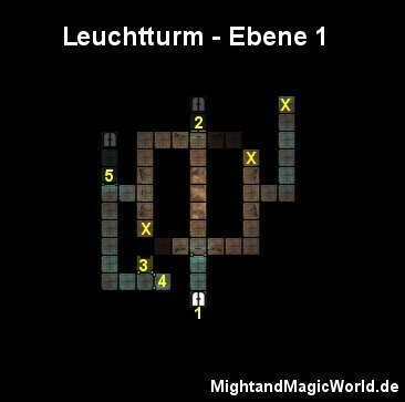 Map der 1. Ebene des Leuchtturms