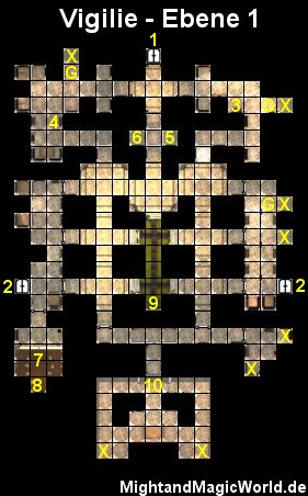Map der 1. Ebene der Vigilie