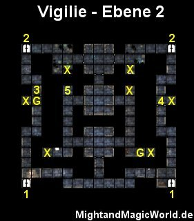 Map der 2. Ebene der Vigilie