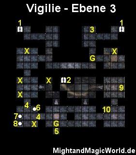 Map der 3. Ebene der Vigilie