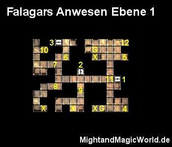 Map Falagars Anwesen Ebene 1