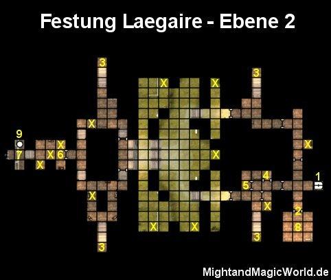 Map der Festung Laegaire Ebene 2