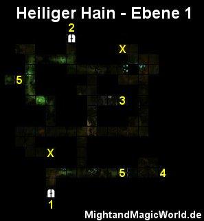 Map der 1. Ebene des Heiliger Hain