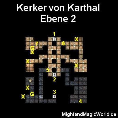 Map der 2. Ebene vom Kerker von Karthal