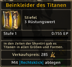 Beinkleider des Titanen Level 1