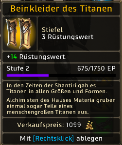 Beinkleider des Titanen Level 2