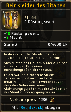 Beinkleider des Titanen Level 3
