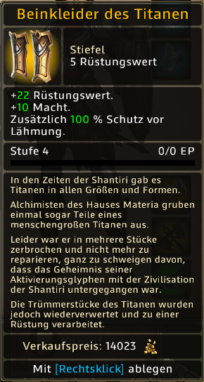 Beinkleider des Titanen Level 4