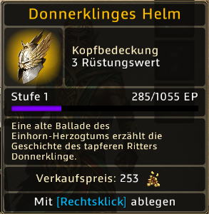 Donnerklinges Helm Level 1