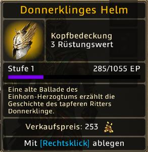 Donnerklinges Helm Level 1