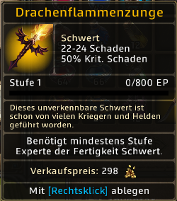 Drachenflammenzunge Level 1