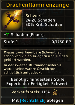 Drachenflammenzunge Level 2