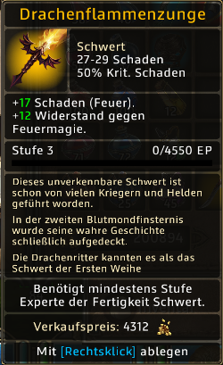 Drachenflammenzunge Level 3