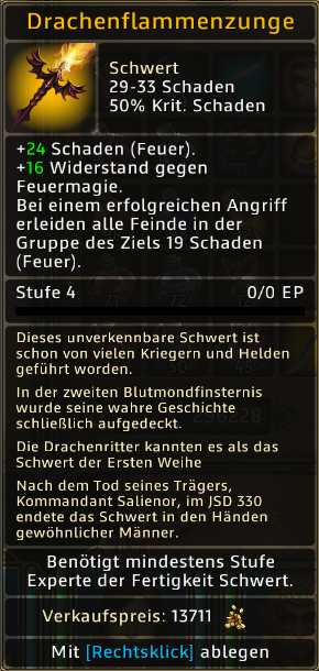Drachenflammenzunge Level 4