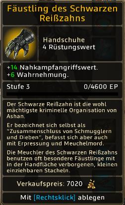 Fäustling des Schwarzen Reißzahns Level 3