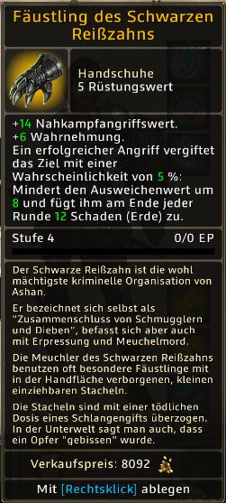 Fäustling des Schwarzen Reißzahns Level 4