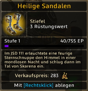 Heilige Sandalen Level 1