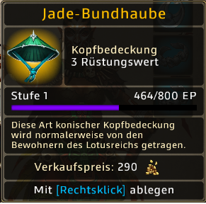 Jade-Bundhaube Level 1