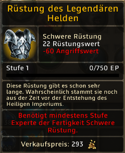 Rüstung des Legendaeren Helden Level 1
