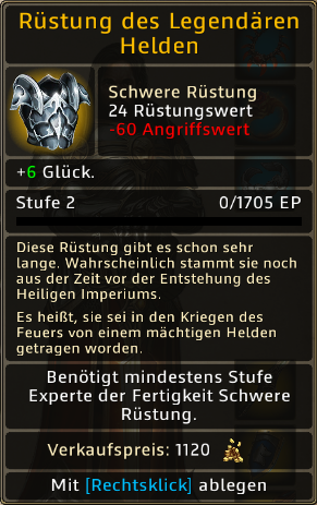 Rüstung des Legendaeren Helden Level 2