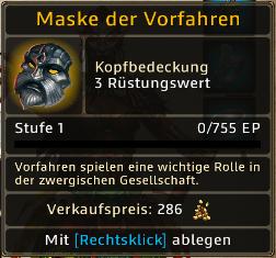 Maske der Vorfahren Level 1