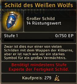 Schild des Weissen Wolf Level 1
