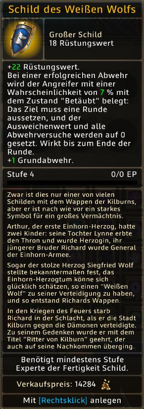 Schild des Weissen Wolf Level 4