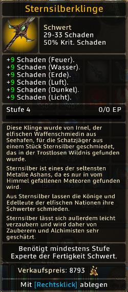 Sternsilberklinge Level 4