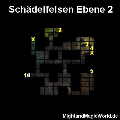 Map der Schädelfelsen Ebene 2