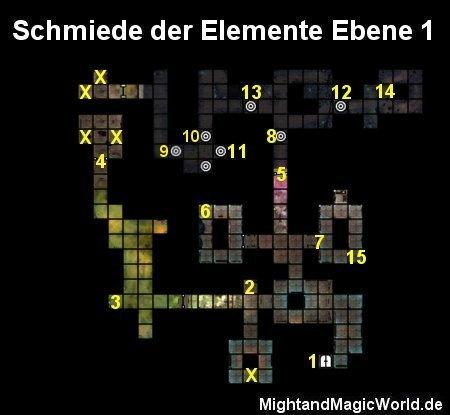 Map der Schmiede der Elemente Ebene 1