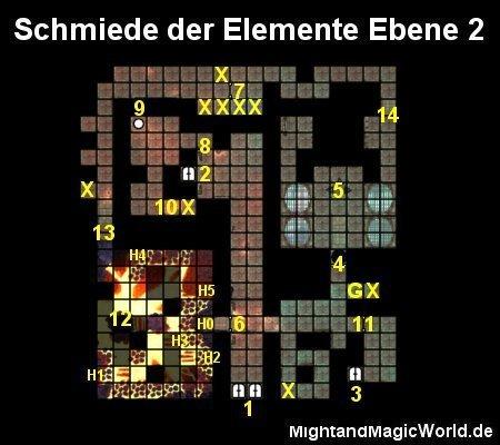 Map der Schmiede der Elemente Ebene 2