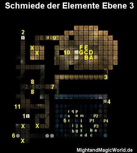 Map der Schmiede der Elemente Ebene 3
