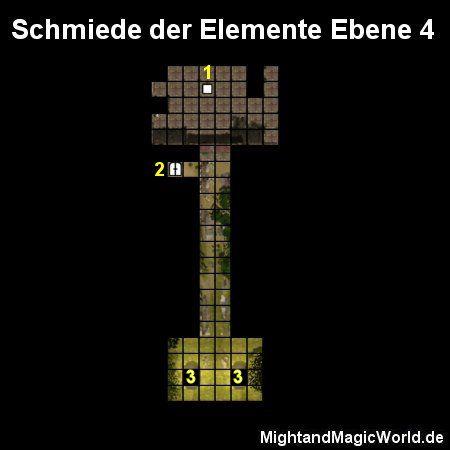 Map der Schmiede der Elemente Ebene 4