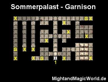 Map des Sommerpalast - Garnison
