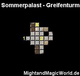 Map des Sommerpalast - Greifenturm