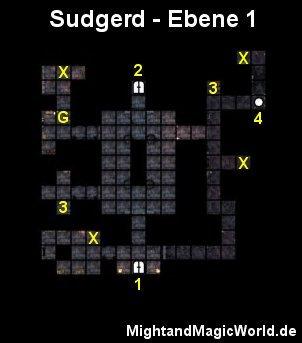 Map der 1. Ebene des Sudgerd