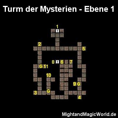 Map der Turm der Mysterien Ebene 1