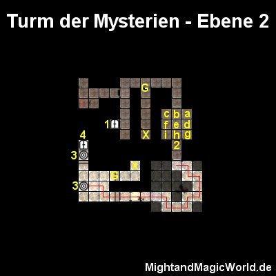 Map der Turm der Mysterien Ebene 2