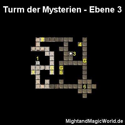 Map der Turm der Mysterien Ebene 3
